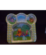 Disney Winnie the Pooh Character Plastic Divided Kids Plate - $8.50