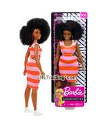 """Yr 2018 Fashionistas 12"""" Doll #105 Curvy African American Barbie Orange ... - $29.99"""