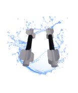 Aqua Bladez  WHITE Lower Resistance Aqua Dumbbell Set - Total Body Pool Exercise - $59.39