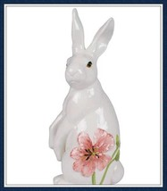 Fitz and Floyd Cherry Blossom Tall Rabbit Figurine/#20-615/New in Box - $42.08
