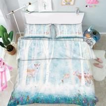 3D Deer Trees 04 Bed Pillowcases Quilt Duvet Cover Set Single Queen King Size AU - $90.04+