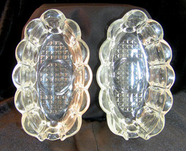 Crystal Princess House Spoon/Fork Holders Heritage Pattern 438 Vintage Pair - $19.35