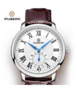 STARKING® Brown Leather Quartz Analog Wrist Waterproof Small Dial Watch - $43.56
