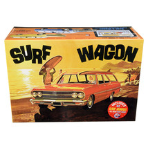 Skill 2 Model Kit 1965 Chevrolet Chevelle Surf Wagon with Two Surf Board... - $43.12