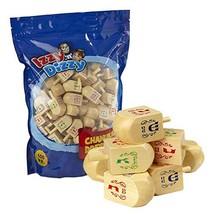 100 Medium Wood Dreidels - Classic Chanukah Spinning Draidel Game, Gift ... - $33.61