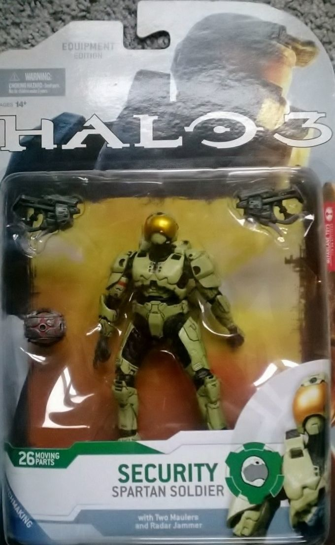 Halo 3 Campaign Equipment Edition Security Spartan Soldier Olive C9 2009