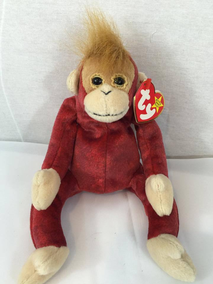 731d56bf633 TY beanie baby MONKEY With tags