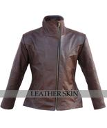 NWT Brown Women Ladies Fashion Stylish Sexy Premium Genuine Leather Jacket - $179.99