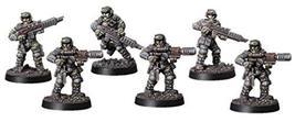 Spellcrow 28mm Miniatures Shock Troops w/Melting Gun Team (5)