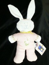 Manhattan Toy BUNNY Rabbit Plush PINK White Daisy Belly 1999 Baby Lovey ... - $39.59