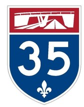Quebec Autoroute 35 Sticker Decal R4822 Canada Highway Route Sign Canadian - $1.45+