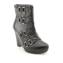 Carlos Santana Urge Womens Size 5.5 Black Faux Leather Fashion Ankle Boots - $49.99