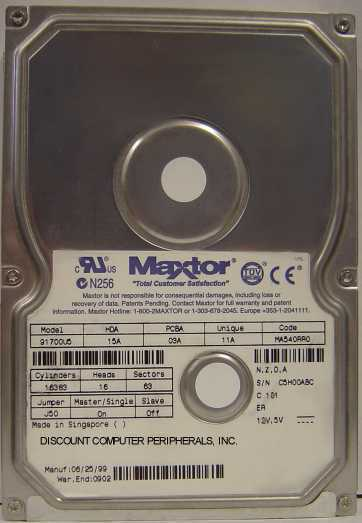 Maxtor 91700U5 17GB IDE 3.5in Drive 3 In stock Tested Good + Free USA Shipping