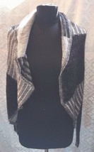 Cabi Womens Sweater  Black Gray Medium Open Front Cardigan M Style 483 P... - $48.21