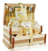Spa Gift Basket Refreshing Rose & Jasmine Fragrance, Beautiful Woode... - $45.09