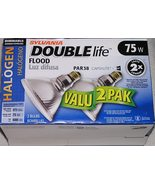 Package of 2 - Sylvania Double Life 75 Watt PAR38 Halogen Flood Lamps Bulbs - $9.99