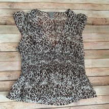 Ann Taylor Women Top Blouse 100% Silk Size 10 - $11.64