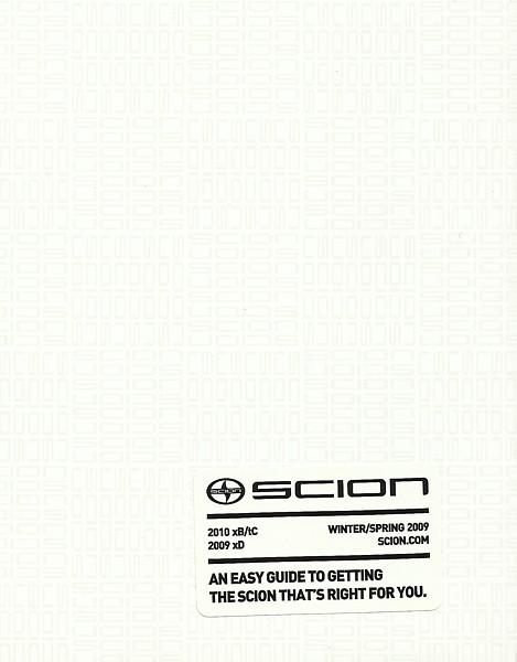 2009/2010 Scion xB xD tC brochure catalog ISSUE 14 magazine ist Rumion