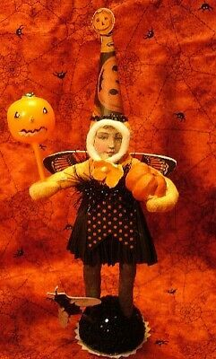 Vintage inspired Spun Cotton Dark Butterfly Girl