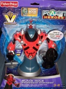 Planet Heroes Black Hole Professor Darkness NEW + Comic Generic