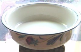 """Lenox Poppies on Blue Rimmed Soup / Cereal Bowl    6 1/4"""" Made in USA Chinastone - $21.00"""