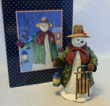 """Lang & Wise Classic Snowman Figurine by Ned Young """"The Lantern's Glow"""" - $23.76"""