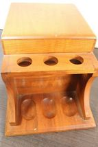 "Vintage Large 12"" Dunhill Wood Pipe & Cigar Holder Stand Rack Stash Box Tobacco image 4"