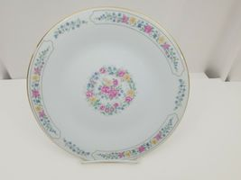 "Liling Fine China Dinner Plates Set of 4 Yung Shen White Roses Keepsake 10 5/8"" image 5"