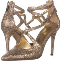 MICHAEL Michael Kors Catia Pump Stilleto Heels 207, Silver/Sand, 6 US - $37.43
