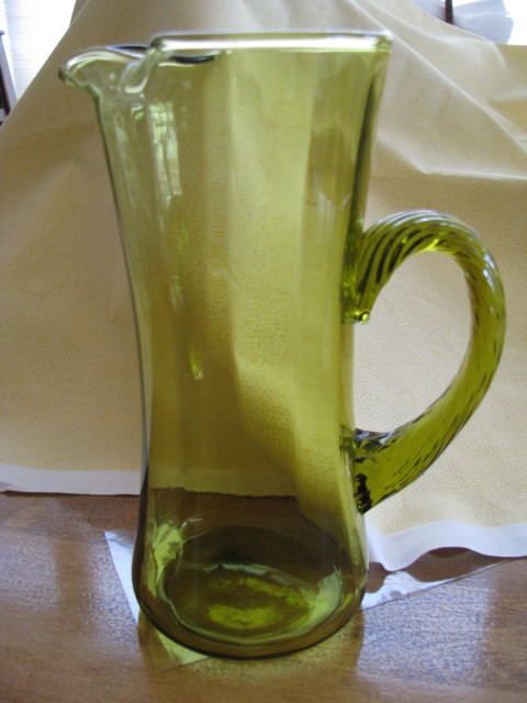 Green pitcher 1