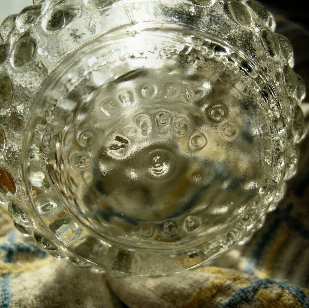 E O Brody Clr Hobnail Round Vase Rare