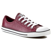 Women Converse Chuck Taylor Dainty Leather Low Top Sneaker, 544850C Size... - $69.95