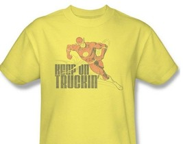 The Flash T-shirt Free Shipping Keep On Truckin' DC distressed cotton DCO734 image 2