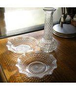 E O Brody Clr Hobnail Round Vase Rare - $23.00