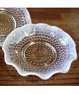 2 Vintage Moonstone Ruffled Berry Dishes - $29.00
