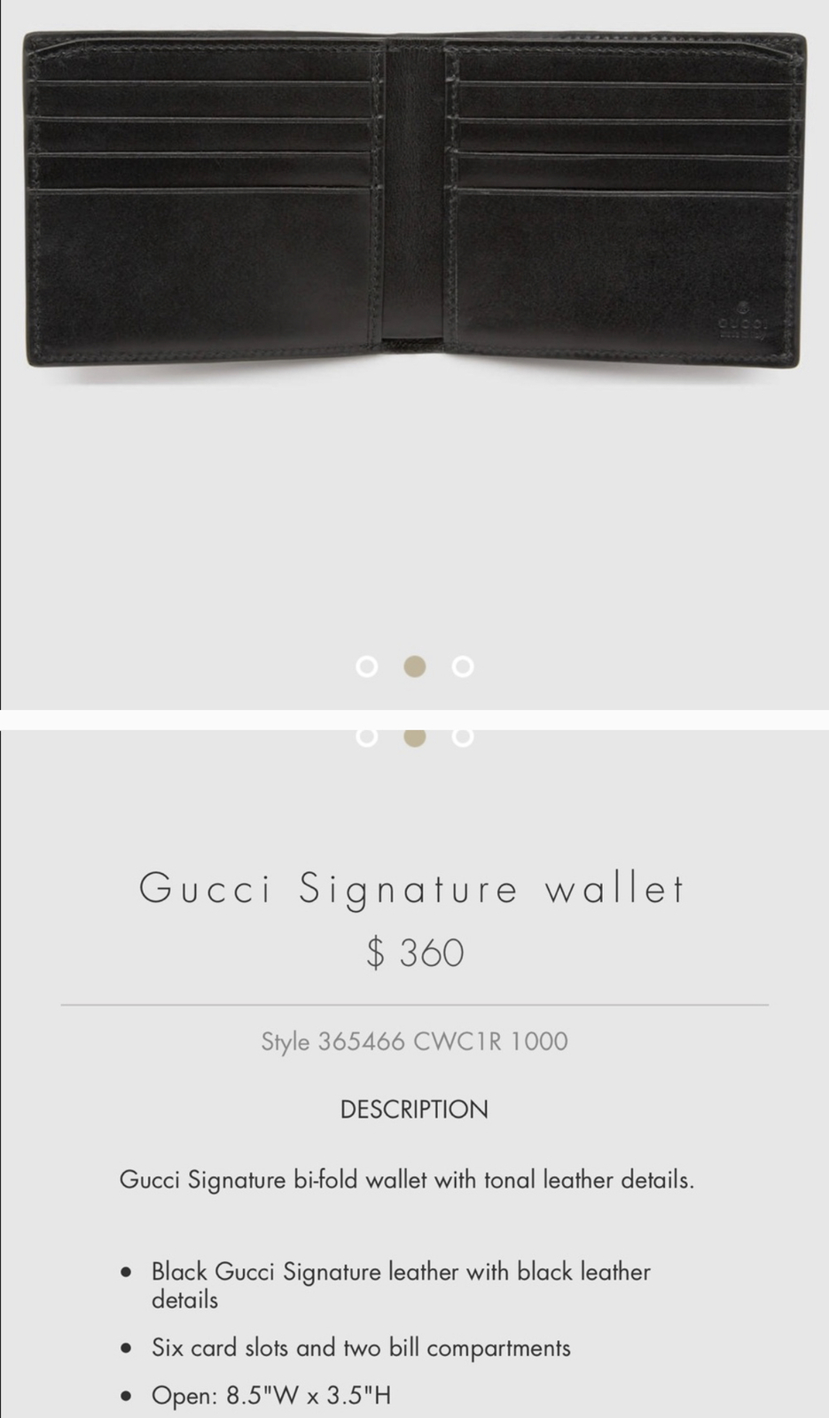 ae6fe1ba90c Gucci Signature Leather Wallet and 50 similar items