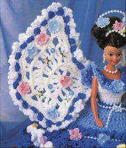 "3X Barbie 11-1/2"" Doll Angel Frills & Ruffles & Bows Trinket Box Crochet Pattern image 7"