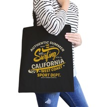 Authentic Summer Surfing California Black Canvas Bags - $20.68 CAD