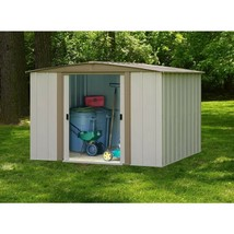 Storage Shed Electro Galvanized Steel 8 x 8 Sliding Lockable Door Outdoo... - $472.81