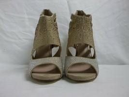 Betsey Johnson Size 8 M Nola Natural Open Toe Heels New Womens Shoes NWOB - $98.01