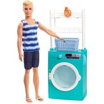 Barbie Laundry Room Ken Doll w/ Spinning Washer/Dryer Mattel Licensed NI... - $28.99