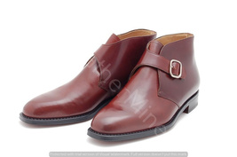 Men's Handmade Brown Leather Monk strap Dres Boots custom Made Formal Boots - €134,19 EUR - €159,36 EUR