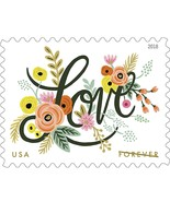 USPS 2018 Sheet of 20 Forever Stamps. Love Flourishes. MNH. - $10.99