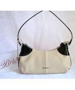 Brighton Paulette Cream Pebbled Leather w Black... - $125.00
