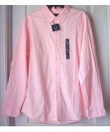 New Gap Mens Long Sleeves Stretch Slim Fit Shirt Pink Size L - $38.11