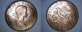 1963 New Zealand 1 Penny World Coin - Tui Bird - $4.99