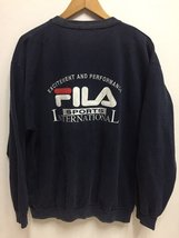 Vintage 90s Fila International Embroidery Logo SpellOut Sweatshirt Jumper - $95.00