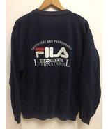 Vintage 90s Fila International Embroidery Logo SpellOut Sweatshirt Jumper - $95.00