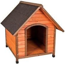 Dog House 44 in. Depth x 38 in. Width A-Frame Waterproof Shingle Roof Wood - $192.21