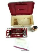 Vintage Wilton Cake Decorating Caddy w/Tips, Powder Die, Cake Press and ... - $84.12